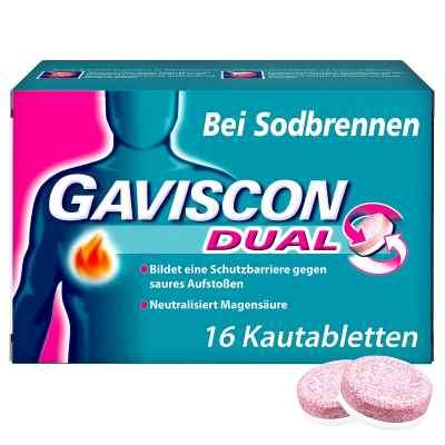 Gaviscon Dual 250mg/106,5mg/187,5mg tabletki do ssania   zamów na apo-discounter.pl