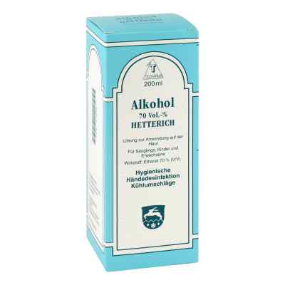 Alkohol 70% V/v Hetterich roztwór  zamów na apo-discounter.pl