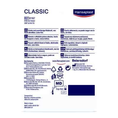 Hansaplast Classic 5mx1,25cm plaster  zamów na apo-discounter.pl