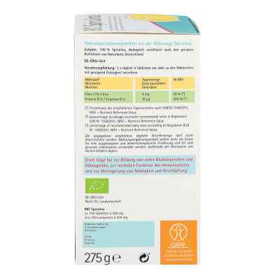 Spirulina 500 mg Bio Naturland tabletki