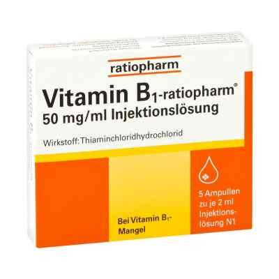 Vitamin B 1 ratiopharm 50mg/ml Inj.lsg. Amp.  zamów na apo-discounter.pl