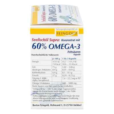 Seefischoel Supra m.60% Omega-3-fetts.weichkaps.