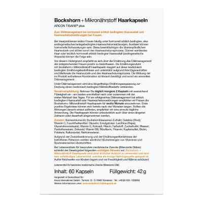 Bockshorn Tisane Plus kapsułki z kozieradką na porost włosów  zamów na apo-discounter.pl