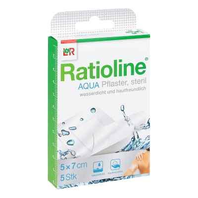 Ratioline aqua Duschpflaster plus 5x7cm steril