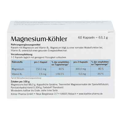 Magnesium Koehler Kapseln  zamów na apo-discounter.pl