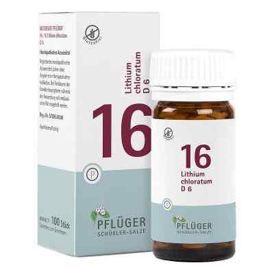 Biochemie Pflueger 16 Lithium chlorat.D 6 Tabl.  zamów na apo-discounter.pl