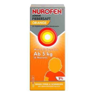 Nurofen Junior sok na gorączkę pomarańczowy 2%   zamów na apo-discounter.pl