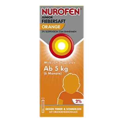 Nurofen Junior Fiebersaft Orange 2%  zamów na apo-discounter.pl