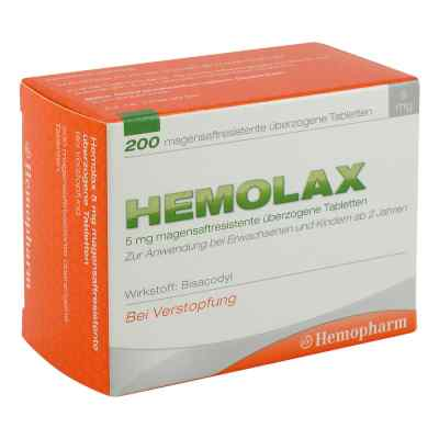 Hemolax 5 mg ueberzogene Tabletten
