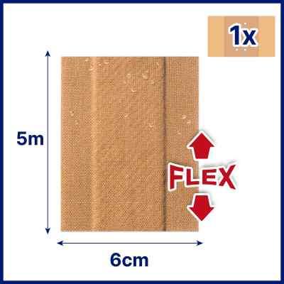 Hansaplast Elastic Pflaster 5mx6cm plaster