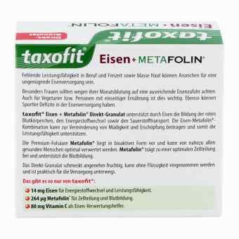 Taxofit® Granulat z żelazem i metafoliną   zamów na apo-discounter.pl