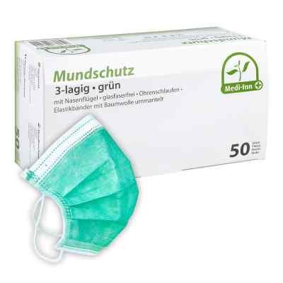 Maseczki ochronne trójwarstwowe zielone  zamów na apo-discounter.pl