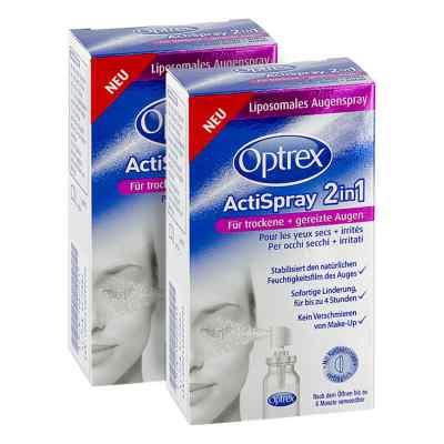 2x Optrex ActiSpray 2in1 oczy suche i podrażnione +gratis  zamów na apo-discounter.pl