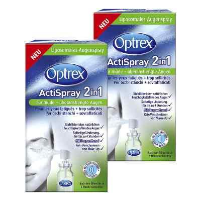 2x Optrex ActiSpray 2in1 für müde  überanstrengte Augen  Sagrota  zamów na apo-discounter.pl