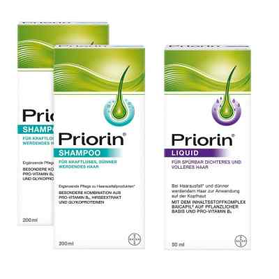 2 szampony Priorin i płyn Priorin z dozownikiem zestaw  zamów na apo-discounter.pl