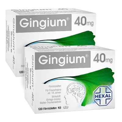 2x Gingium intens 40mg Kerze