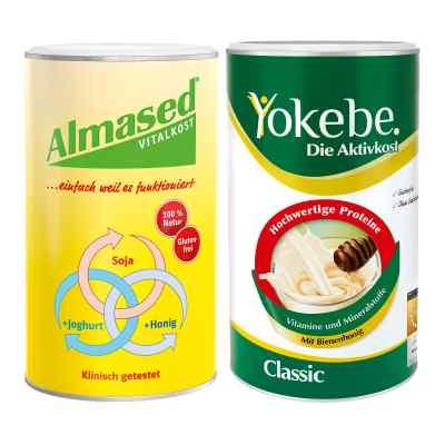 Almased + Yokebe zestaw koktajli odchudzających
