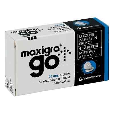 Maxigra Go 25 mg tabletki do rozgryzania i żucia  zamów na apo-discounter.pl