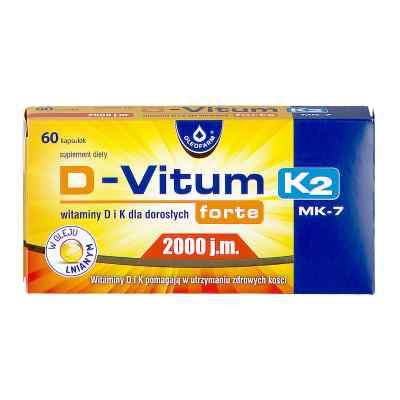 D-Vitum forte 2000 j.m. dla dorosłych kapsułki  zamów na apo-discounter.pl