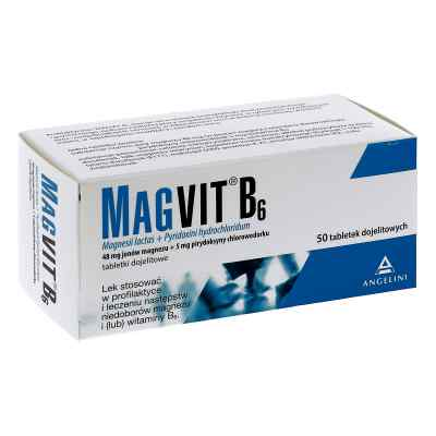 Magvit magnez dojelitowy tabletki 48 mg + 5 mg  zamów na apo-discounter.pl