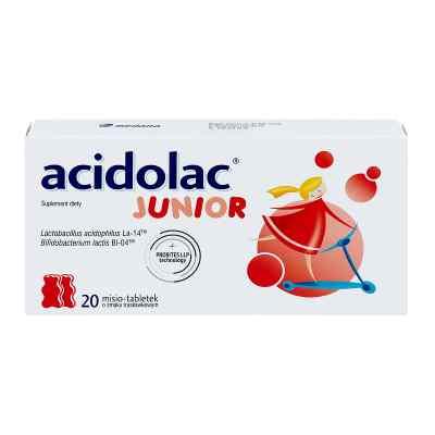 Acidolac Junior misie tabletki o smaku truskawkowym  zamów na apo-discounter.pl