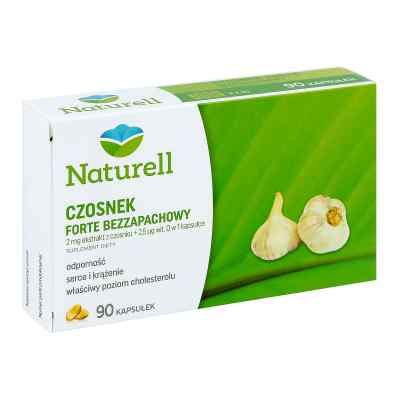 Naturell Czosnek forte bezzapachowy kapsułki  zamów na apo-discounter.pl