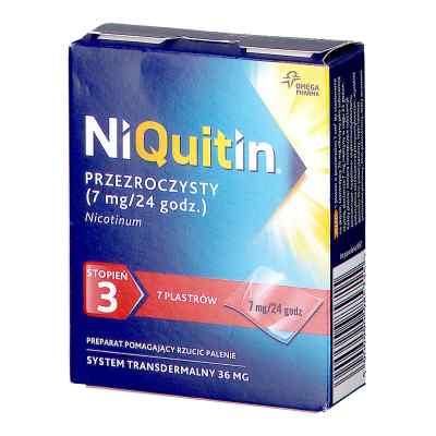 Niquitin przezroczysty 7 mg/24 h stopień 3 plastry  zamów na apo-discounter.pl