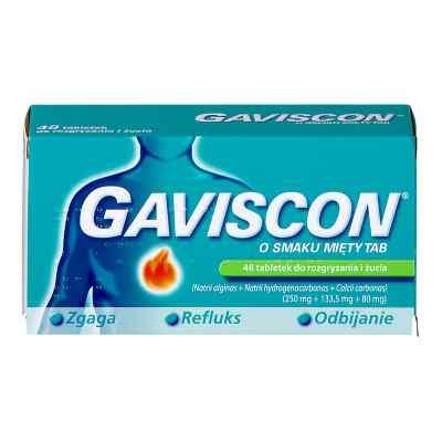 Gaviscon o smaku miętowym tabletki do rozgryzania i żucia  zamów na apo-discounter.pl