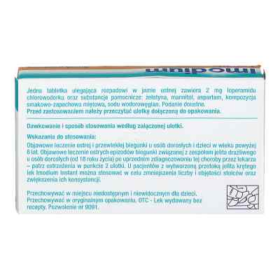 Imodium Instant 2 mg tabletki ulegające rozpadowi w jamie ustnej  zamów na apo-discounter.pl