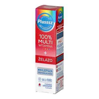 Plusssz 100% Multiwitamina + Żelazo smak wiśniowo-pomarańczowy  zamów na apo-discounter.pl