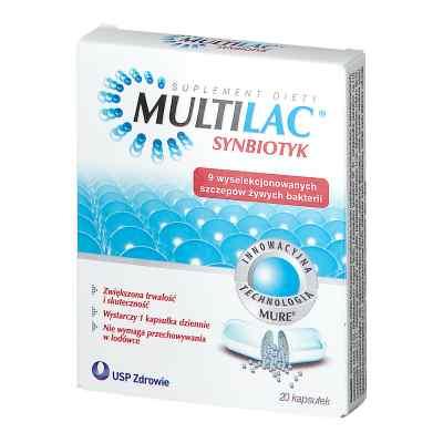 Multilac, synbiotyk (probiotyk + prebiotyk), kapsułki  zamów na apo-discounter.pl