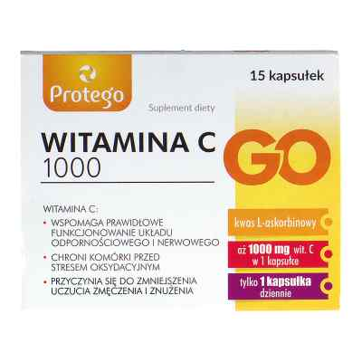 Protego witamina C 1000 Go kapsułki  zamów na apo-discounter.pl