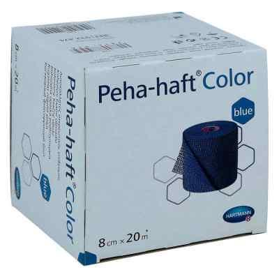 Peha Haft Color Fixierbinde latexf.8cmx20m blau  zamów na apo-discounter.pl