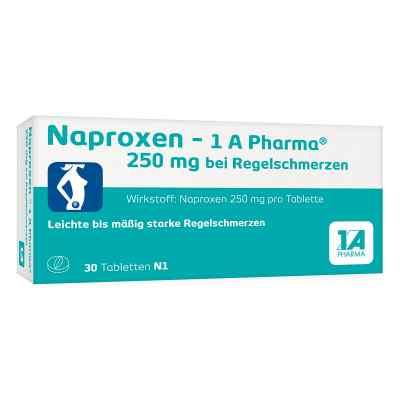 Naproxen 1a Pharma 250 mg b.Regelschmerzen Tabl.  zamów na apo-discounter.pl