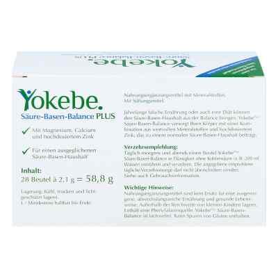 Yokebe Plus Saeure-basen-balance preparat zapewniający równowagę  zamów na apo-discounter.pl