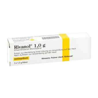 Rivanol 1,0 g Pulver 5 szt. od DERMAPHARM AG PZN 10056616