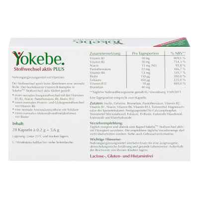 Yokebe Plus Aktiv kapsułki wspierające metabolizm