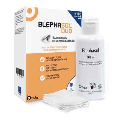 Blephasol Duo Zestaw płyn do powiek + waciki   zamów na apo-discounter.pl