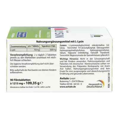 L-lysin 750 mg Tabletten