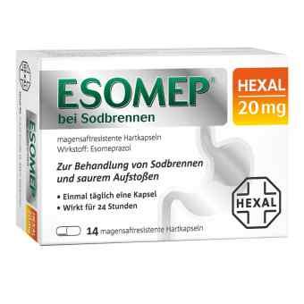 Esomep Hexal bei Sodbrennen 20 mg magensaftresistent Hkp.  zamów na apo-discounter.pl