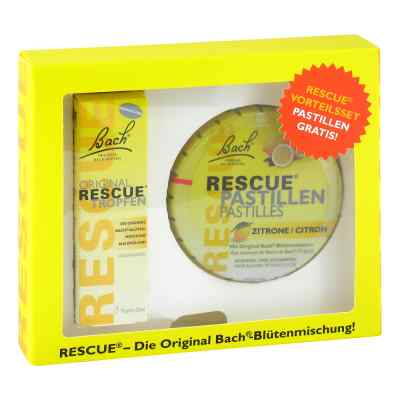 Dr Bach Rescue pastyli + oryginalne krople zestaw
