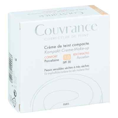 Avene Couvrance podklad w kompakcie kremowy odcień porcelanowy i