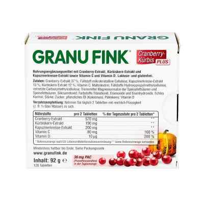 GranuFink żurawina+ pestki dynia Plus tabletki