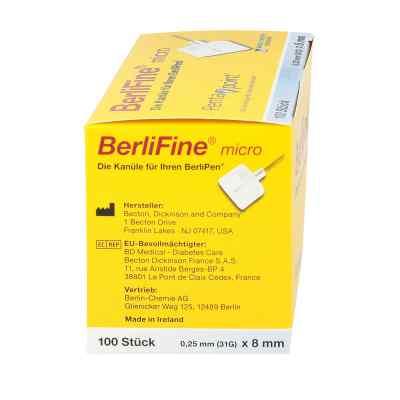 Berlifine micro Kanülen 0,25x8 mm  zamów na apo-discounter.pl