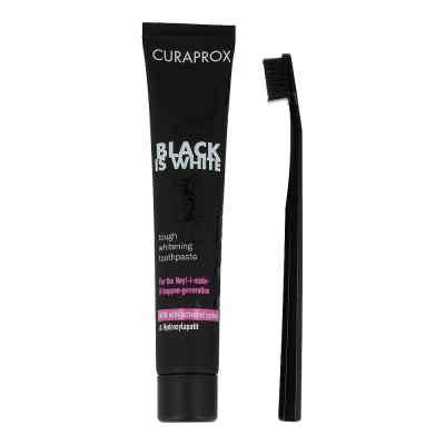 Curaprox Black is White, węglowa pasta do zębów ze szczoteczką  zamów na apo-discounter.pl