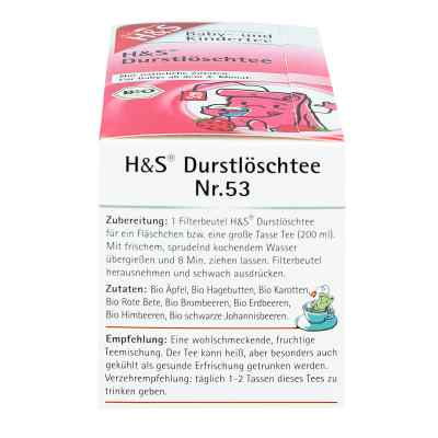 H&s Bio Durstlöschtee Baby- und Kindertee Filterbeutel   zamów na apo-discounter.pl