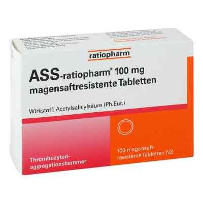 Ass ratiopharm 100 mg magensaftresistent   Tabletten