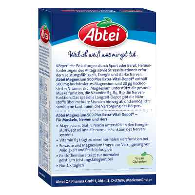 Abtei Magnesium 500 Plus Extra-vital-depot Tabletten   zamów na apo-discounter.pl