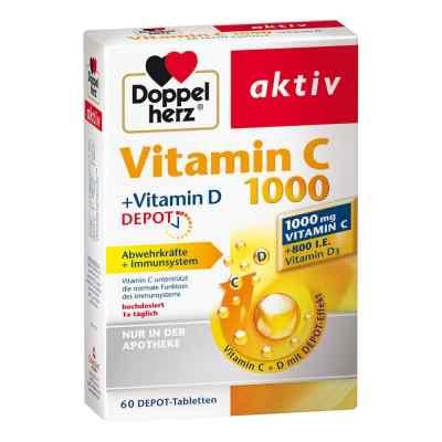 Doppelherz aktiv Vitamin C 1000+vitamin D Depot  zamów na apo-discounter.pl