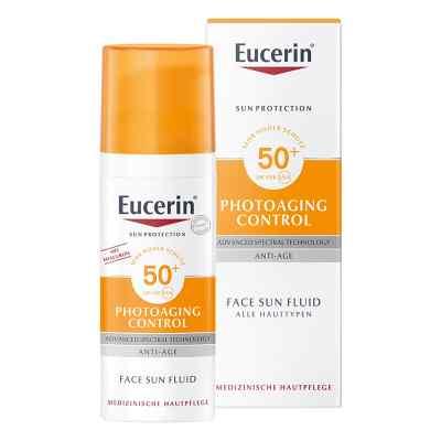 Eucerin Sun Fluid Photoaging Control fluid do twarzy SPF 50  zamów na apo-discounter.pl
